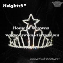 Rhinestone Mini Star Crowns With Combs